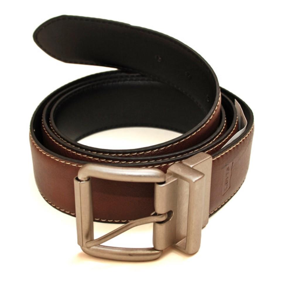 Big and Tall Reversible Belt - Brown/Black