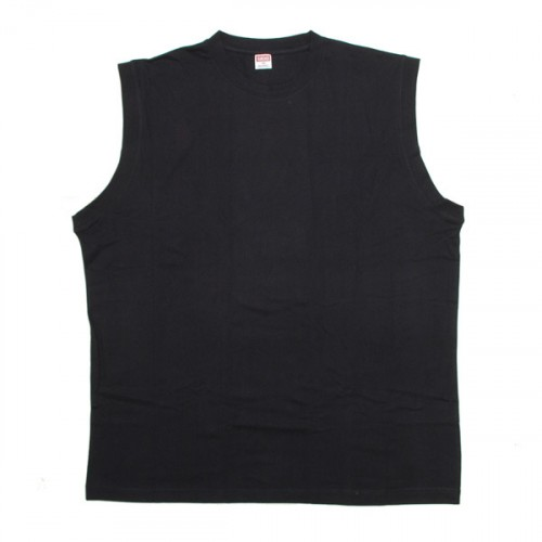 Cotton Sleeveless Shirt - Black
