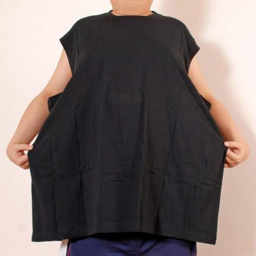 Cotton Sleeveless Shirt - Black