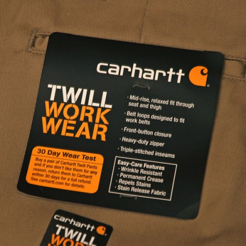 CARHARTT Twill Work Pant - Khaki