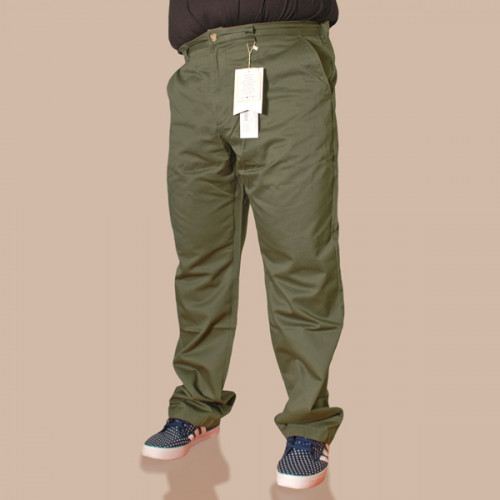 Easy Straight Chino - Olive Green