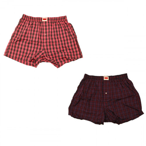 Plaid Pattern Boxer – Red / Pink