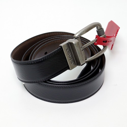 Feathered Reversible Belt - Black/Brown