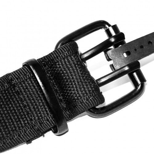 Canvas Double Hole Belt - Black