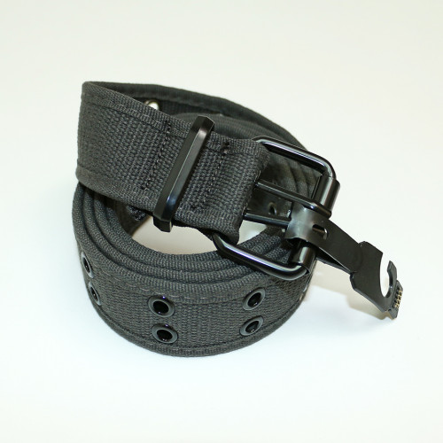 Canvas Double Hole Belt - Dark Grey
