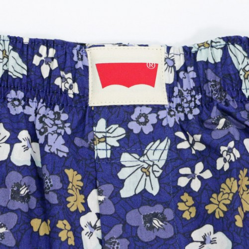 Botanical & Border Pattern Boxer Set - Navy/Blue