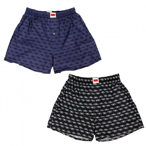 LS & CO Pattern Boxer Set - Black/Navy