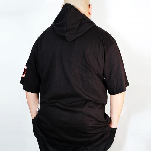Logo Patch S/S Hoodie - Black