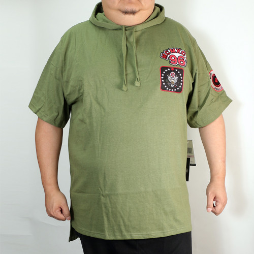 Logo Patch S/S Hoodie - Green
