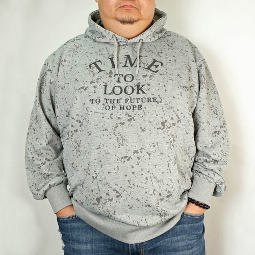 Time To Look To The Future Of Hope Hoodie - Grey