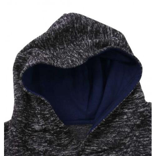 HIYOKO Chan Knit Fleece Hoodie - Charcoal