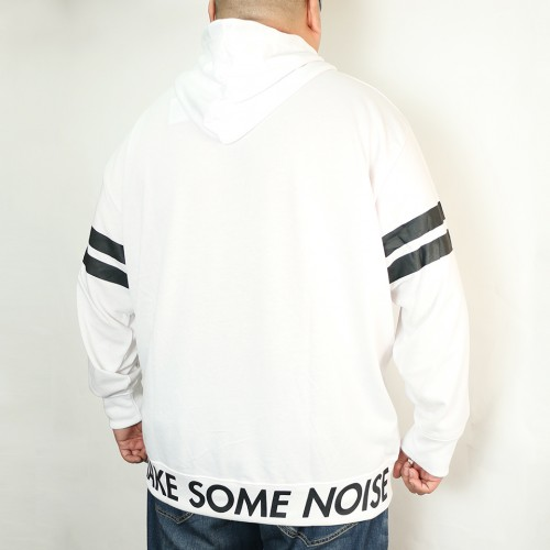 Make Some Noise Hoodie - White