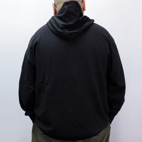 Plain Color Hoodie - Black