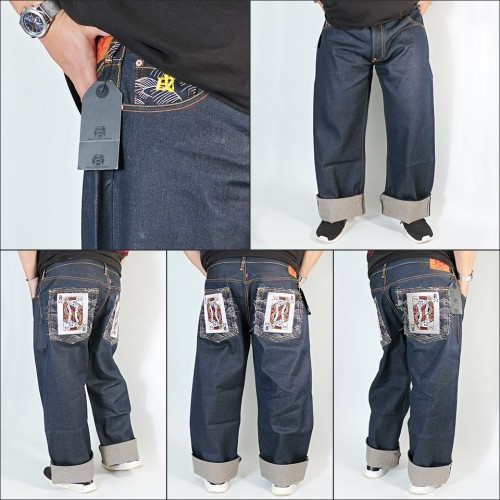Poker Super Exclusive Raw Selvedge Denim Jeans - Indigo