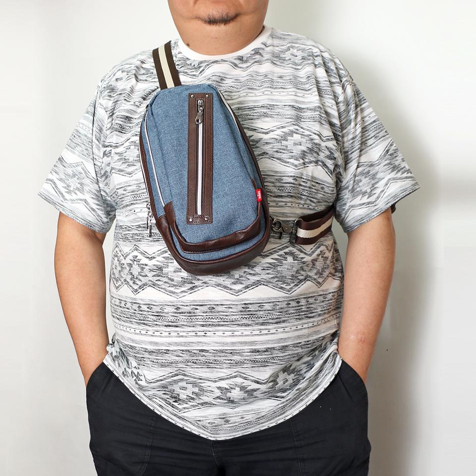 Denim One Shoulder Bag - Blue