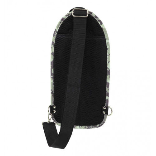 Carbon Lip Multi Pocket Vertical One Shoulder Bag - Digicamo
