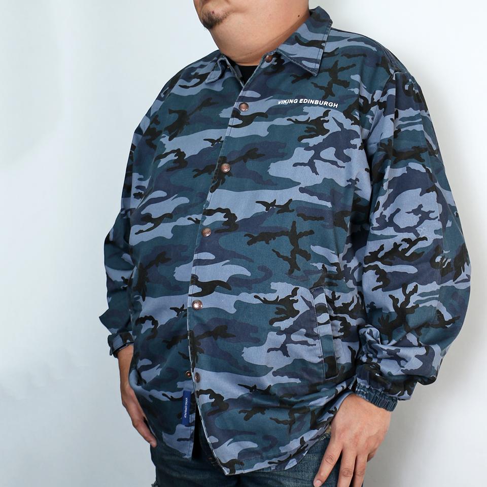 Indigo Camo Coach Jacket