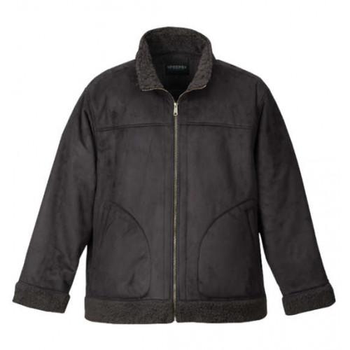 Fake Mouton Stand Jacket - Black