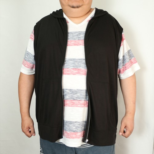 Summer Lightweight Zip Vest - Black