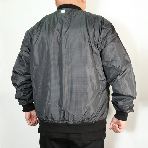 Nylon Jersey Lined Jacket - Grey