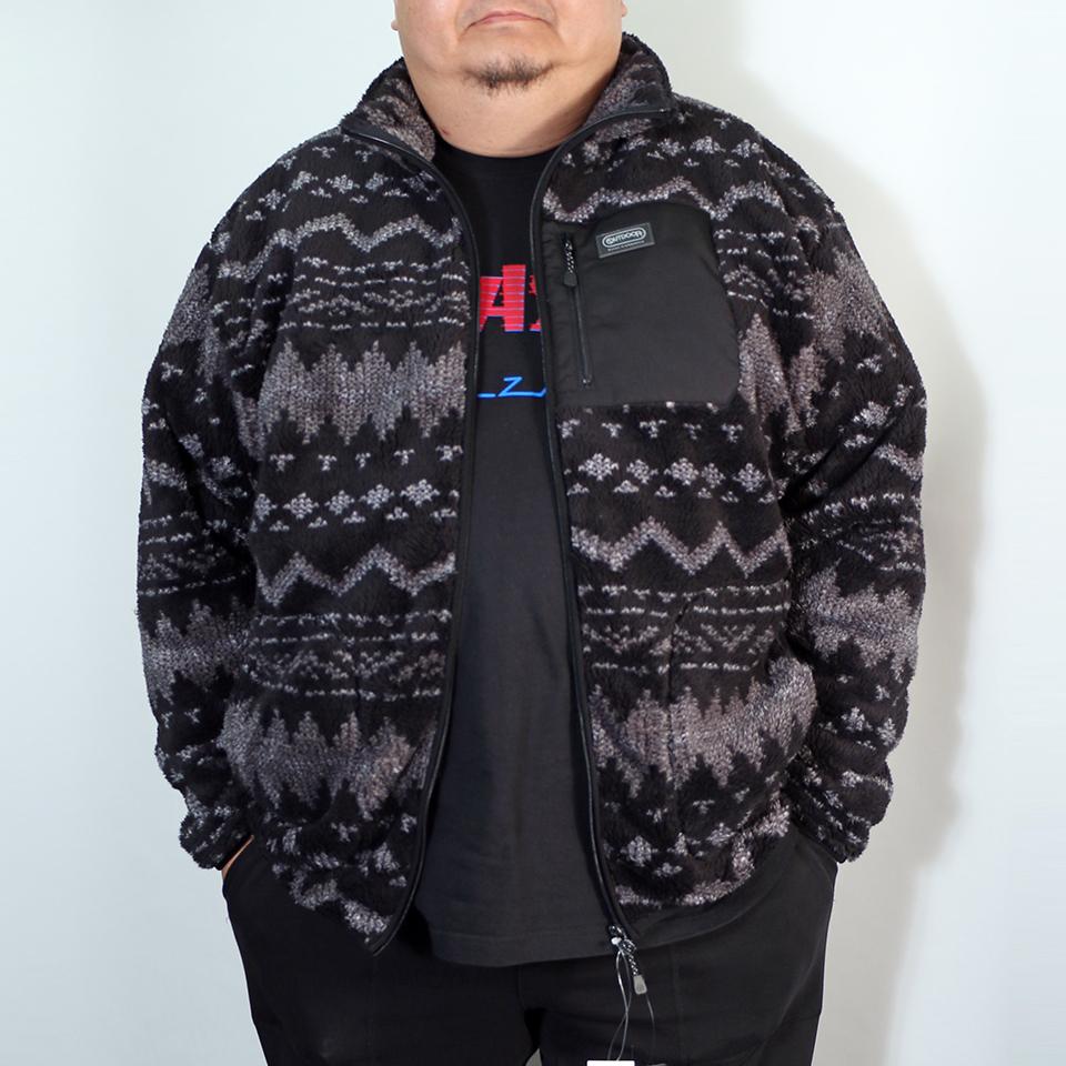 Back Mesh Boa Fleece Jacket - Fair Isle