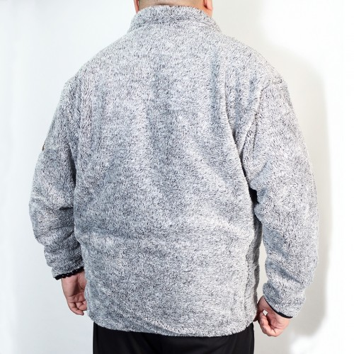 Back Mesh Boa Fleece Jacket - Grey