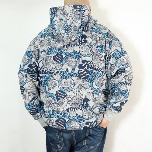 Expressive Arale Chan Full Zip Jacket - Grey