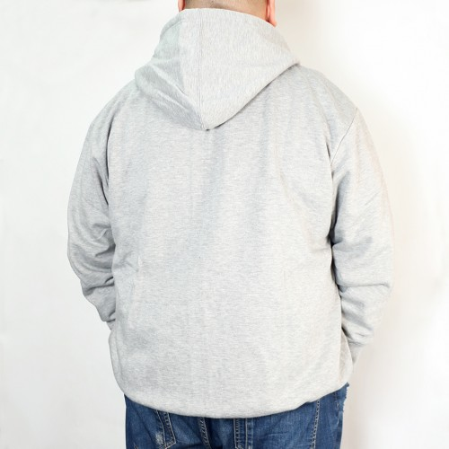 Laugh And Peace Fleece Jacket - Grey