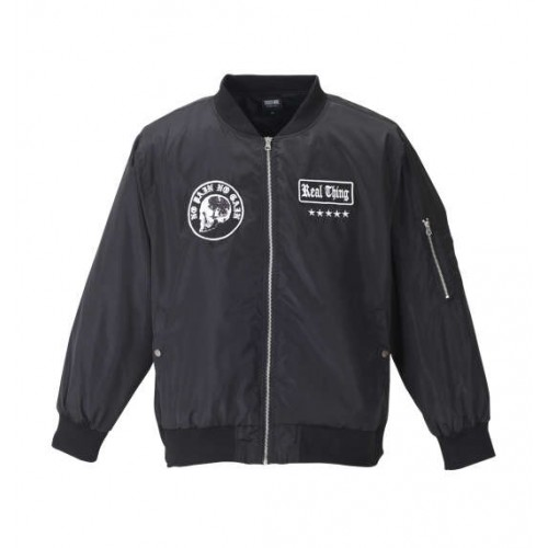 Change The Face MA-1 Patch Jacket - Black