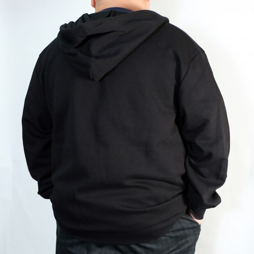 Basic Full Tech Fleece Jacket - Black