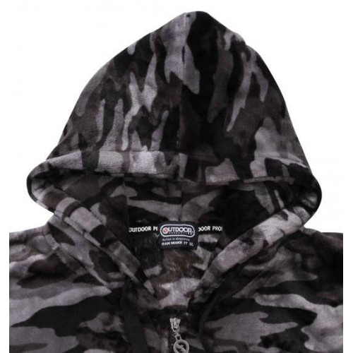 Fluffy Silky Soft Feeling Outer - Black Camo