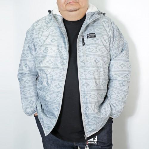 Taffeta Back Boa Fleece Jacket - White