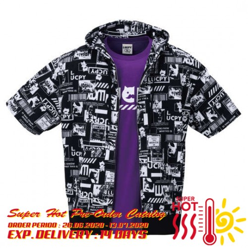 Lucpy Total Pattern Tee Set - Black/Purple