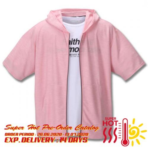 Slab Ripple S/S Hoodie Set - Pink