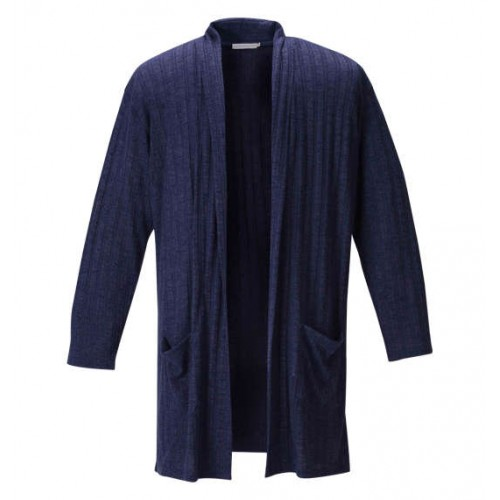 Stylish Stripe Cardigan - Navy
