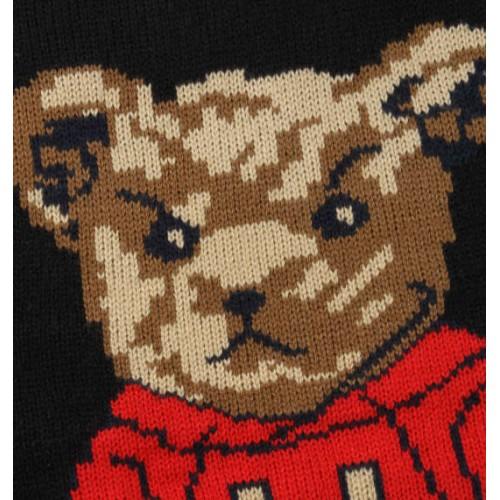 Bear Knit Sweater - Black