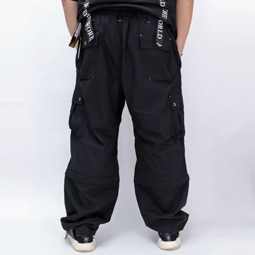 2 Way Cargo Pants - Black