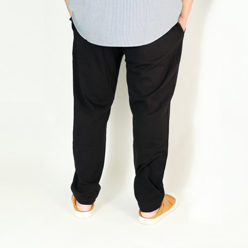 French Terry Pants - Black