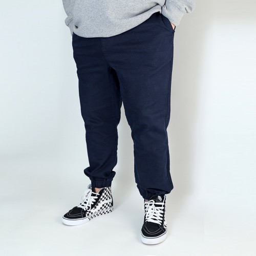 Stretch Twill Joggers - Navy