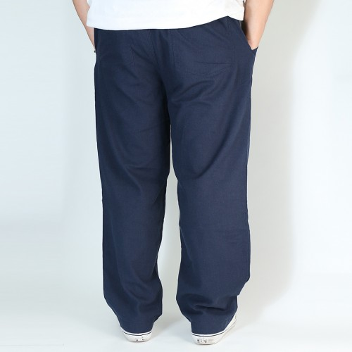 麻混 Easy Relax Pants - Navy