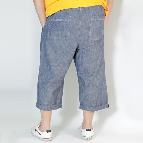 Summer Cropped Pants - Denim