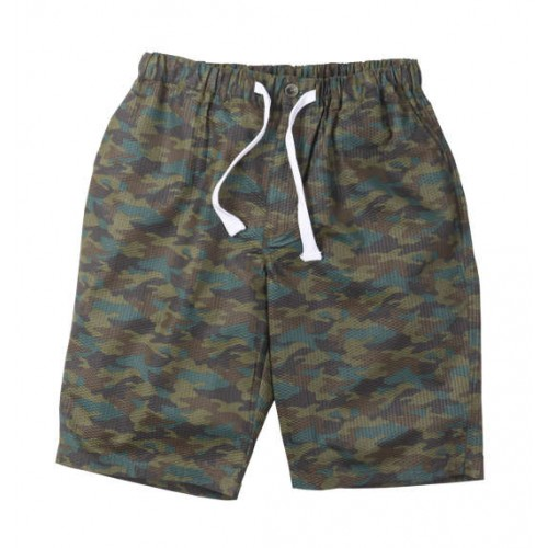 Ripple Camouflage Pattern Half Pants - Green