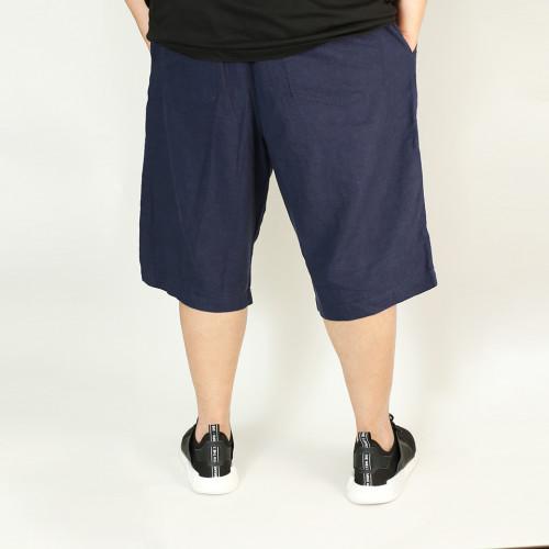 麻混 Easy Relax Shorts - Navy