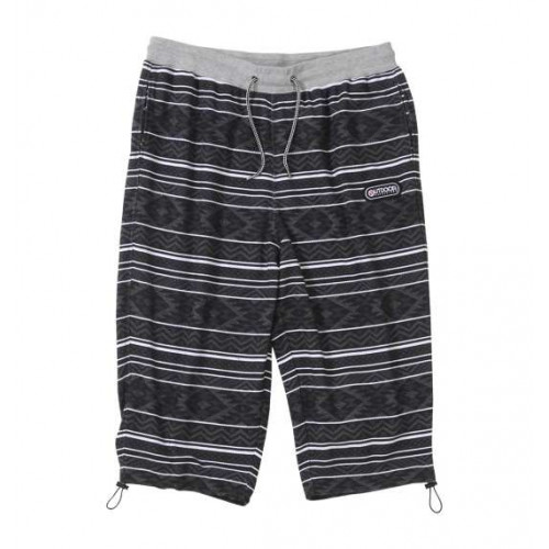 Ethnic Pattern Cool Shorts - Black