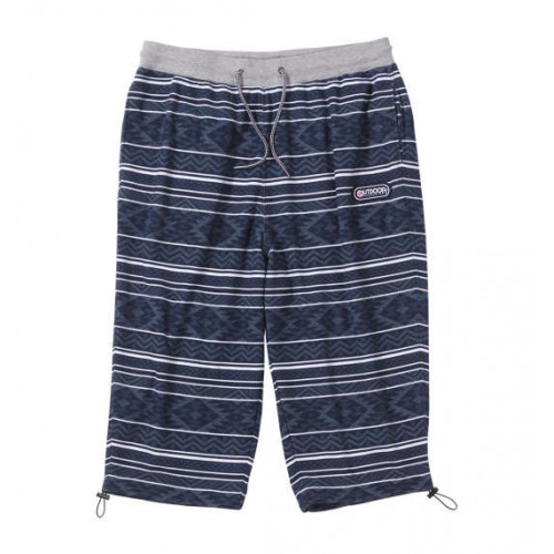 Ethnic Pattern Cool Shorts - Navy