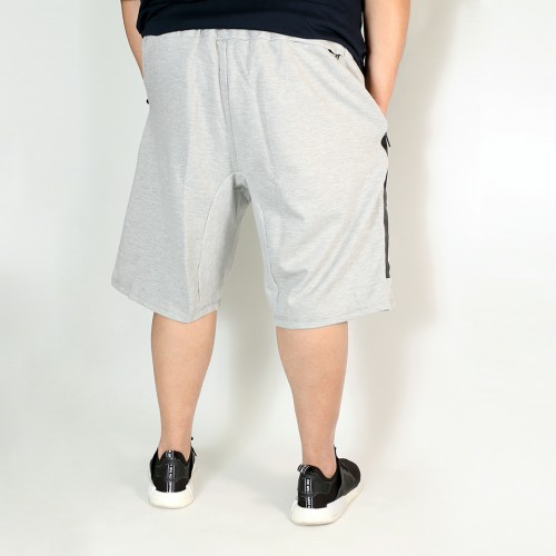 Large Zipper Pocket Shorts - Grey