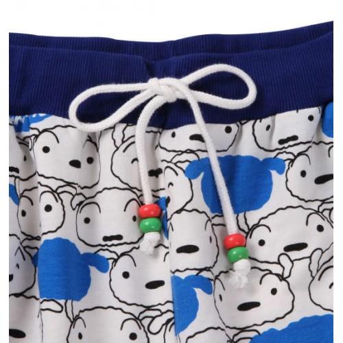 Shin-chan's Pet Dog Shiro Pattern Shorts - White