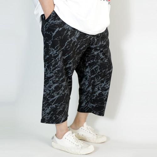Marbling Casual Shorts - Black