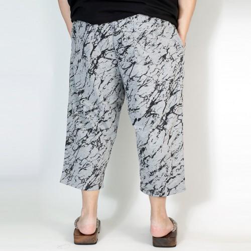 Marbling Casual Shorts - Grey