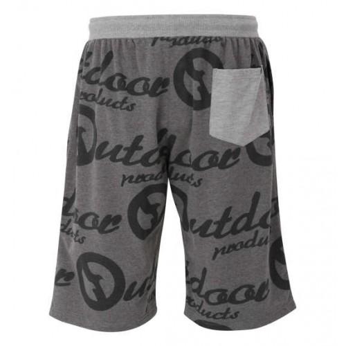 Logo Pattern Relaxing Shorts - Charcoal